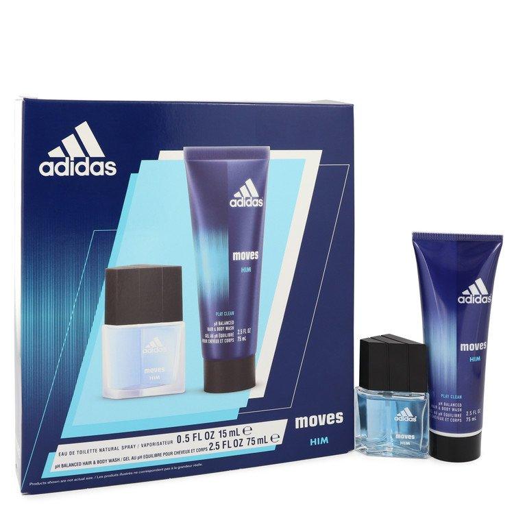 Adidas Moves Cologne by Adidas - - Gift Set - .5 oz Eau De Toilette Spray + 2.5 oz Hair & Body Wash 517168