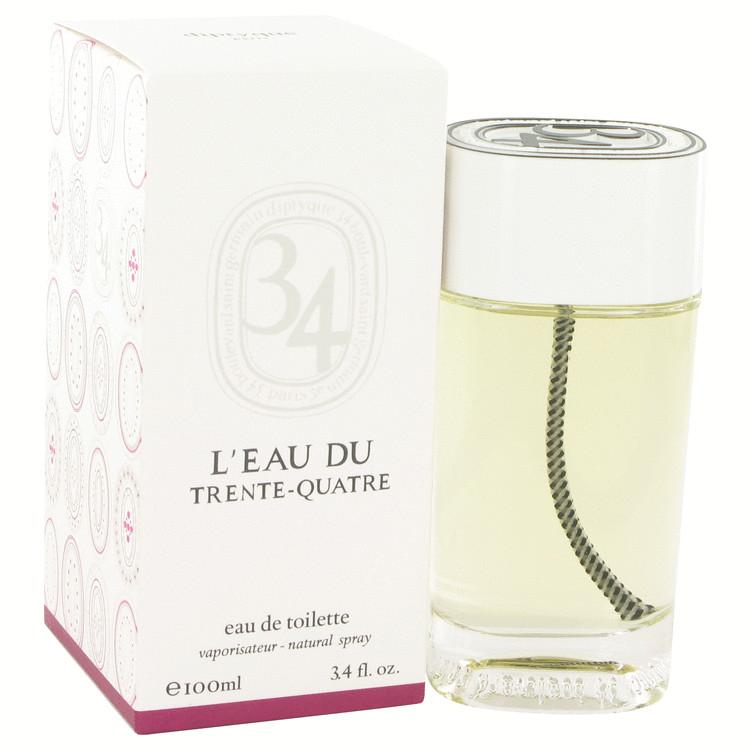 L'eau Du Trente-quatre Perfume by Diptyque - 3.4 oz Eau De Toilette Spray (Unisex) 516747
