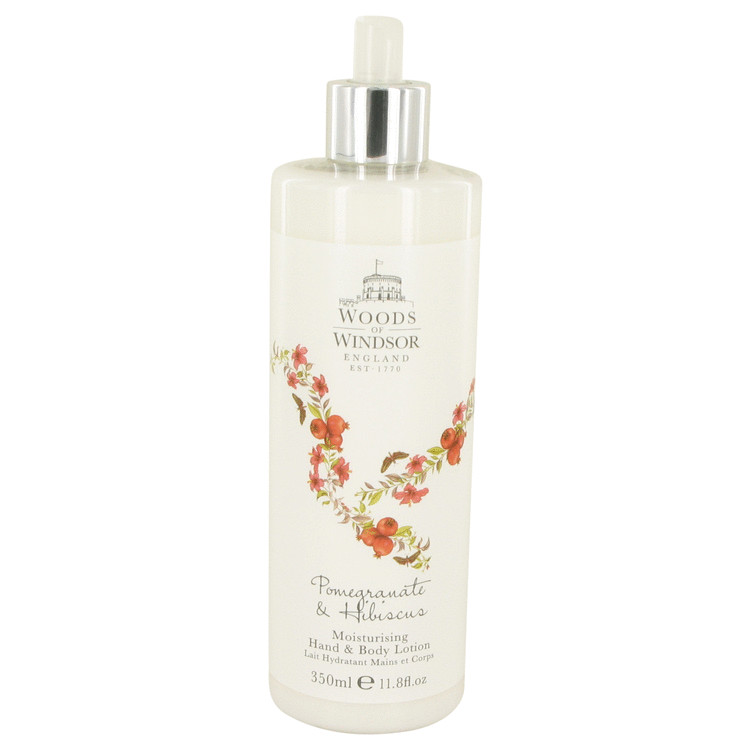 Pomegranate & Hibiscus Perfume by Woods of Windsor - 11.8 oz Hand & Body Lotion